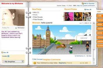 Cyworld screenshot